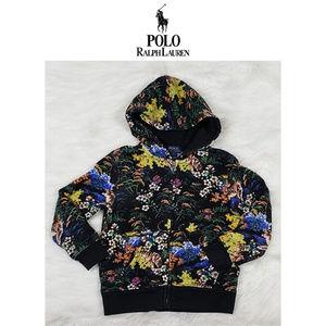 Polo Ralph Lauren Floral Print Zip Hoodie Size 5